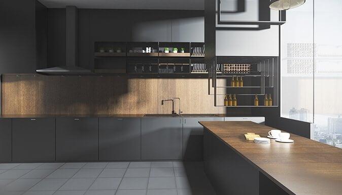 crne kuhinje po meri